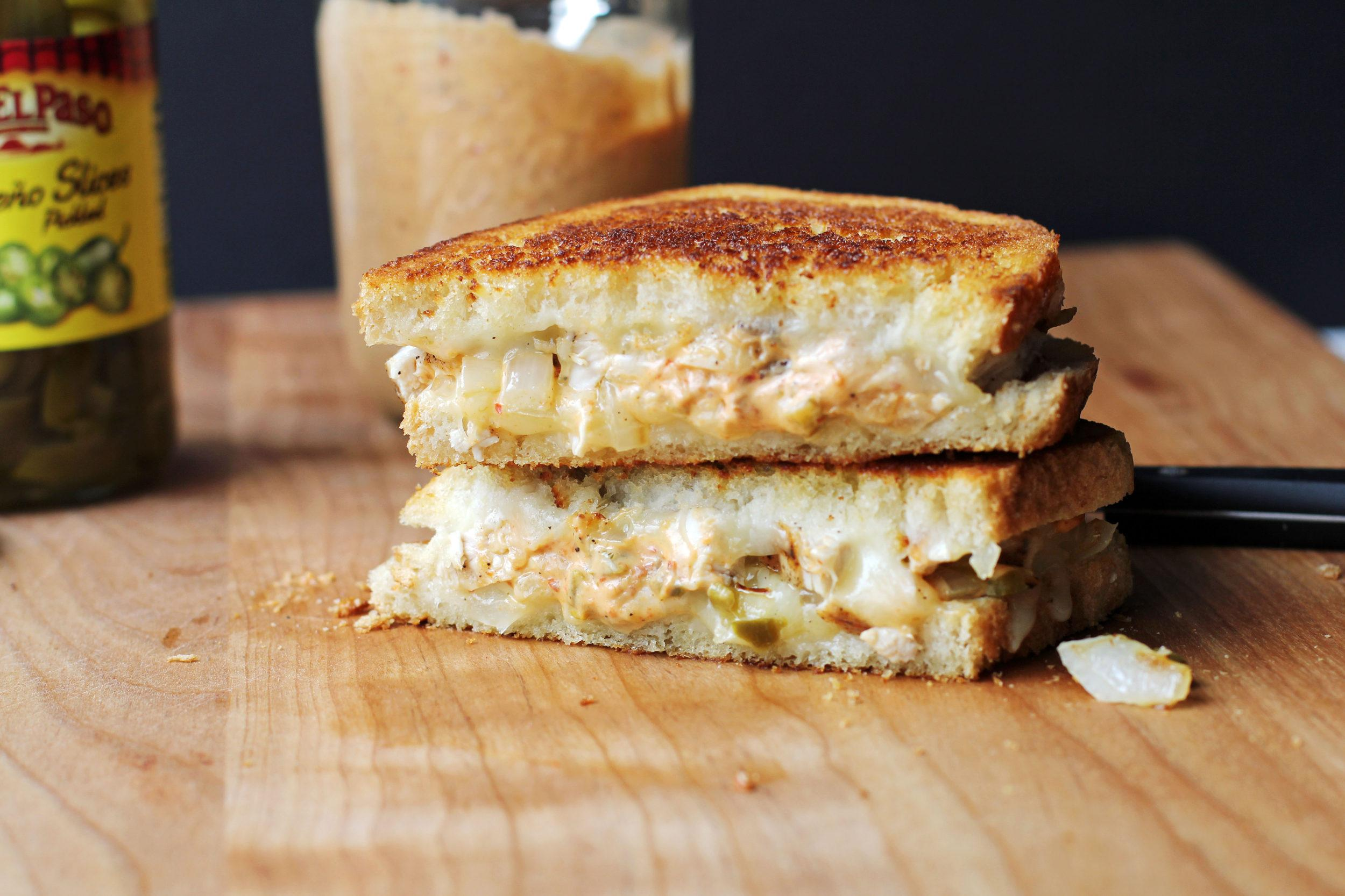 Chipotle Chicken Grilled Cheese