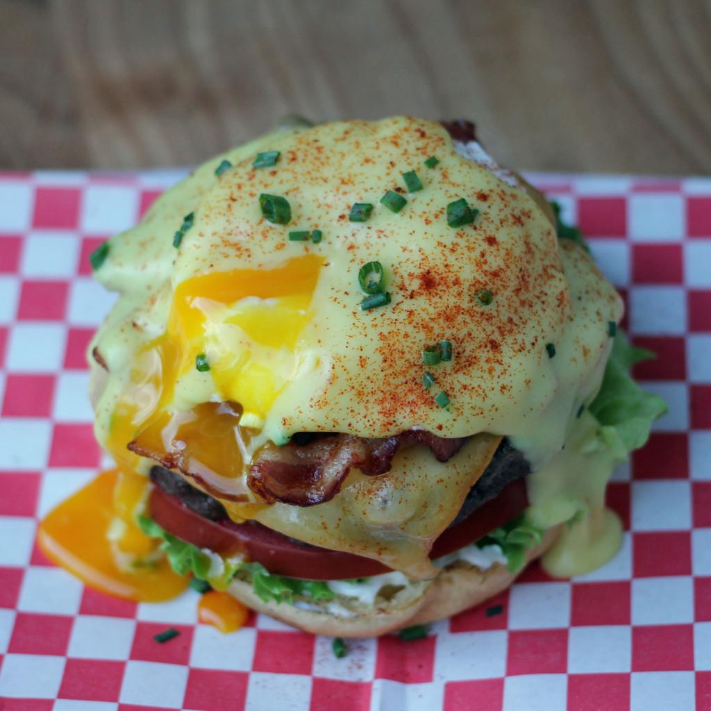 Eggs Benedict Brunch Burger