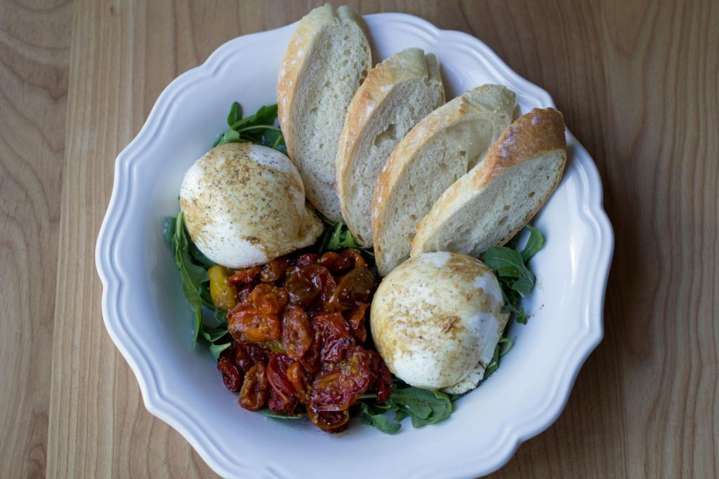 Burrata with Roasted Tomatoes