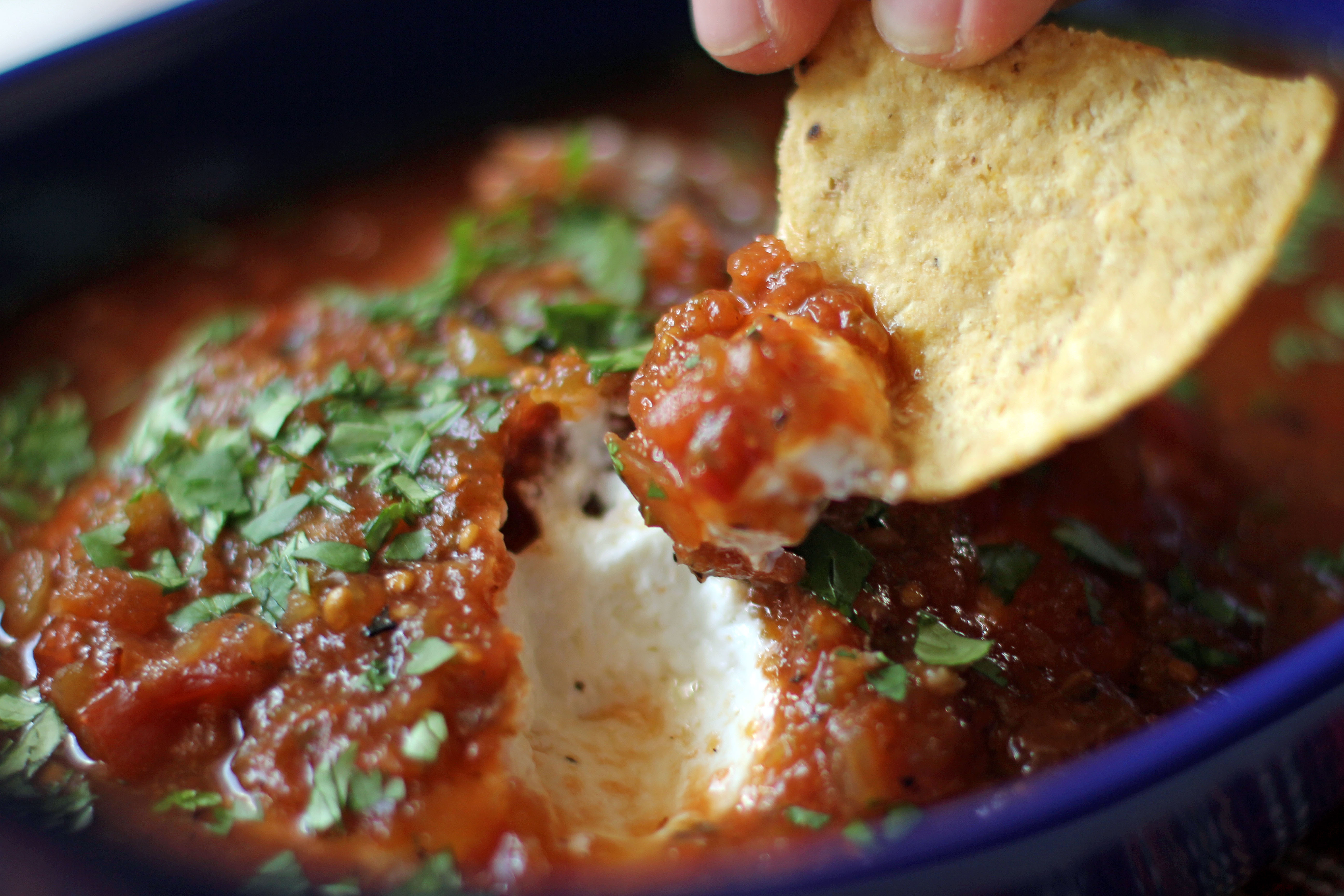 Salsa Baked Cheese