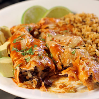 Black Bean and Green Chile Enchiladas