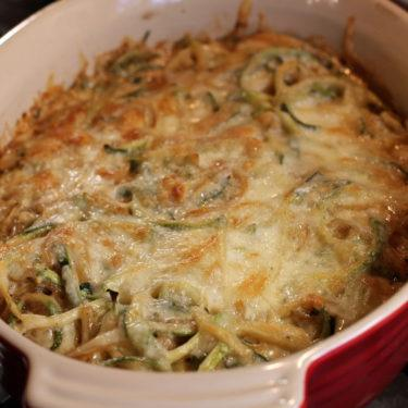 French Onion Zoodle Bake