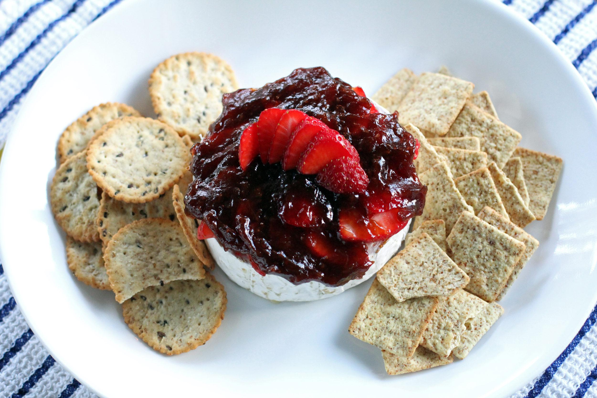 Strawberry Balsamic Baked Brie