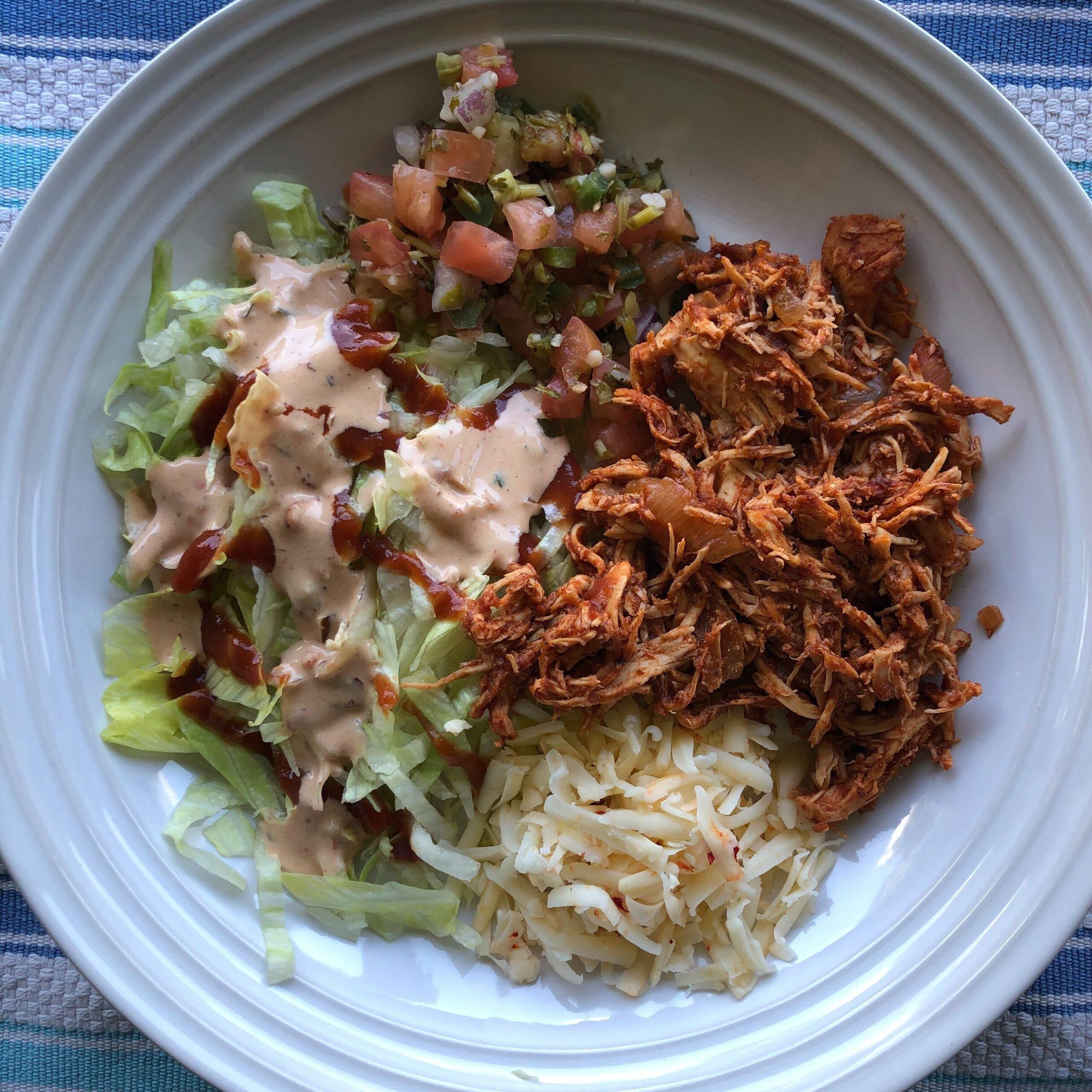 Chicken Tinga Taco Salad